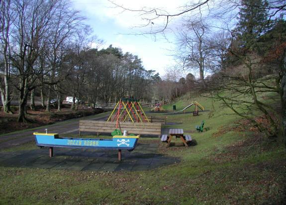 Rocking canoe Auchenblae playground